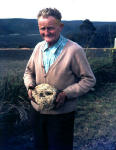 Rex's Father Bill Gilroy - holding Yowie Casts