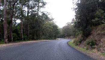 View of Mt George Road looking south
